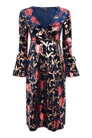 floral foil wrap foil floral plunge wrap dress dresses clothing wrap dresses