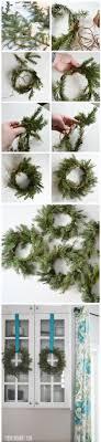 make real evergreen wreaths the diy
