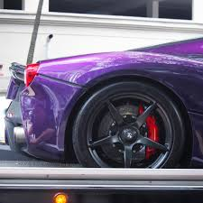 purple ferrari by the numbers