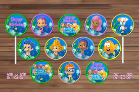 guppies cake toppers guppies cupcake toppers by magianrainbow on zibbet