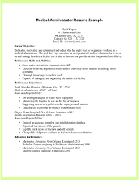 Admin Resume Examples by Examples Of Medical Resumes Resume Templates