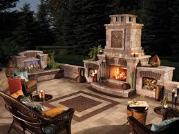 photos 6 patio with fireplace design on flagstone patio with stone