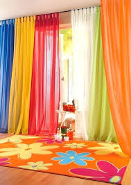 Blue Green Sheer Curtains Orange Blue Curtains Colorful Blue Yellow White Green And