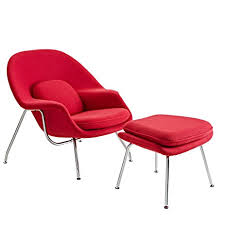 eero amazon amazon com modway eero saarinen style womb chair and ottoman set