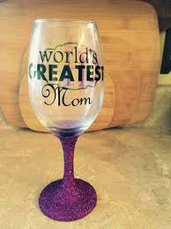 Wine Glass Gifts Personalized Wine Glasses Worlds Greatest Mom Glittered Stem