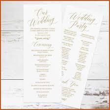 Easy Wedding Program Template Wedding Program Templates Sop Example
