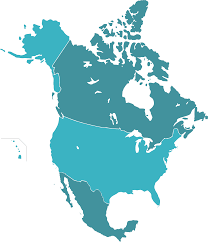 Map Of Canada And Us White World Map With Shadow On Transparent Backgroundvector Us