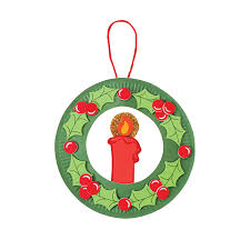 christmas craft paper plate wreath paper plate and bow wreath