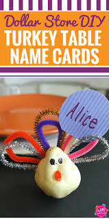 diy dollar store thanksgiving turkey name cards my and