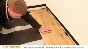 Peel And Stick Wood Floor Laying Flooring Fast Fit Peel U0026 Stick Guide Youtube