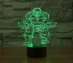 3d deco superhero wall lights hulk face 3d deco superhero led wall night light lu qing wen