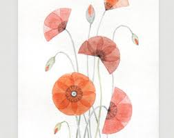 Home Decored Poppy Wall Hanging Etsy