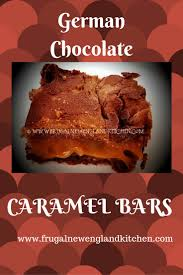 german chocolate caramel bars cake mix bar cookies recipe