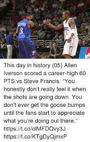 Allen Iverson Meme - this day in history 05 allen iverson scored a career high 60 pts vs