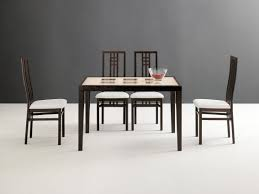 drexel heritage dining room set poker table and scala chairs wenge and cherry modern casual