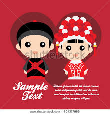 wedding wishes in mandarin set traditional wedding elements stock vector 204377920