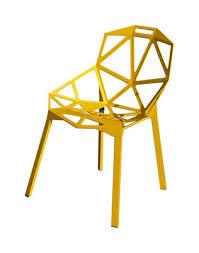 chaises jaunes chaise empilable chair one métal jaune pieds jaunes magis