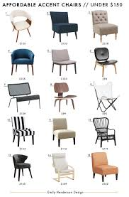 Blue And White Accent Chair Affordable Accent Chair Roundup Emily Henderson