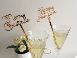 merry christmas new years party decorations swizzle sticks