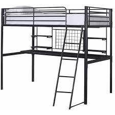 black metal twin loft bed with desk boltzero collection black finish metal frame twin loft bed with desk