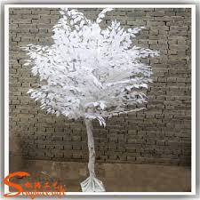 artificial white tree tree and white tree wedding decor