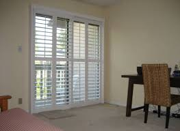 Sliding Plantation Shutters For Patio Doors Beautiful Patio Door Plantation Shutters Home Design Concept