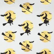 Halloween Gift Wrap - halloween gift wrap full moon on white wrapping paper
