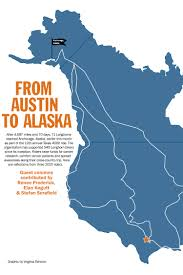 Alaska Map With Cities And Towns by Students Cycle From Austin To Alaska With Texas 4000 The Daily Texan