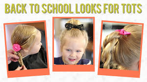 three year old hair dos 3 easy back to school hairstyles for toddlers youtube
