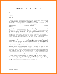 Template For Letter Of Appeal Employee Suspension Letter