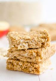 bar snack cuisine healthy apple pie oat bars low sugar snack for