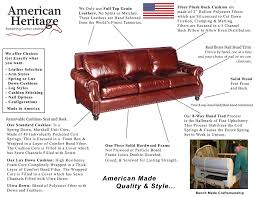 Cushion Construction Carter Leather Sofa American Heritage Custom Leather Made In The