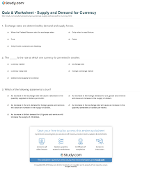 quiz u0026 worksheet supply and demand for currency study com