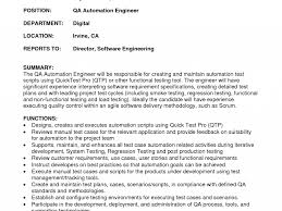 Qtp Resume Download Automation Test Engineer Sample Resume