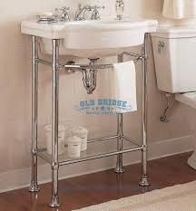 high quality steel stone bathroom vanity unit with metal legs