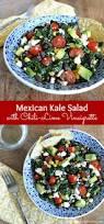 mexican kale salad with chili lime vinaigrette