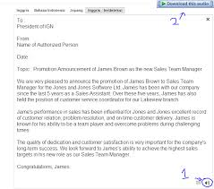 7 best images of sample promotion announcement memo job