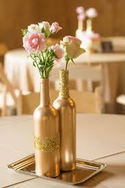Elegant Centerpieces For Wedding by Vintage Elegant Centerpiece Milk Glass Gold Wine Bottle