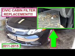 honda accord cabin air filter replacement honda civic cabin air filter replacement pollen filter 2011