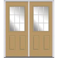 glass panel front door mmi door 60 in x 80 in grilles between glass right hand 1 2 lite