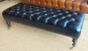 Bespoke Chesterfield Sofa by Leather Chairs Of Bath Bespoke Black Leather Footstool Chelsea
