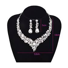 wedding necklace gifts images Youfir bridal austrian crystal necklace and earrings jewelry set jpg