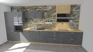 cuisine en gris plan de cuisine amenagee cuisine gris et bois chaios