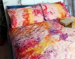 tie dye duvet cover set hand sewn bedding hippie bedding