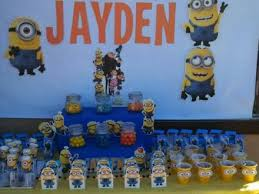 Minions Candy Buffet by Huge Minion Despicable Me 5th Birthday Celebration Featured