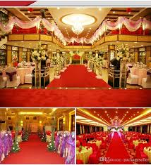 indian wedding decoration accessories luxury wedding centerpieces velvet carpet aisle runner 1m wide