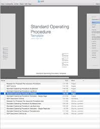 standard operating procedure sop apple iwork pages numbers