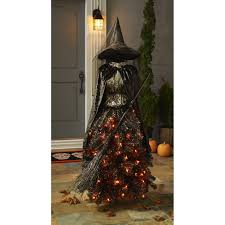 amazon com members mark 5 foot pre lit halloween witch dress