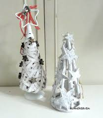 shabby chic vintage home decor christmas tree cone ornament wood white decoration birch shabby