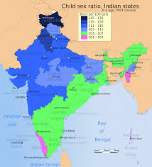 India Map Of States file 2011 census ratio map for the states and union